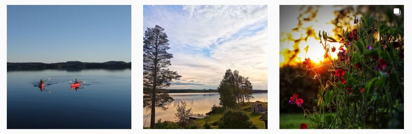 Semester och Hemester bräckekommun. Revsundssjön Sidsjö Hunge Jämtland