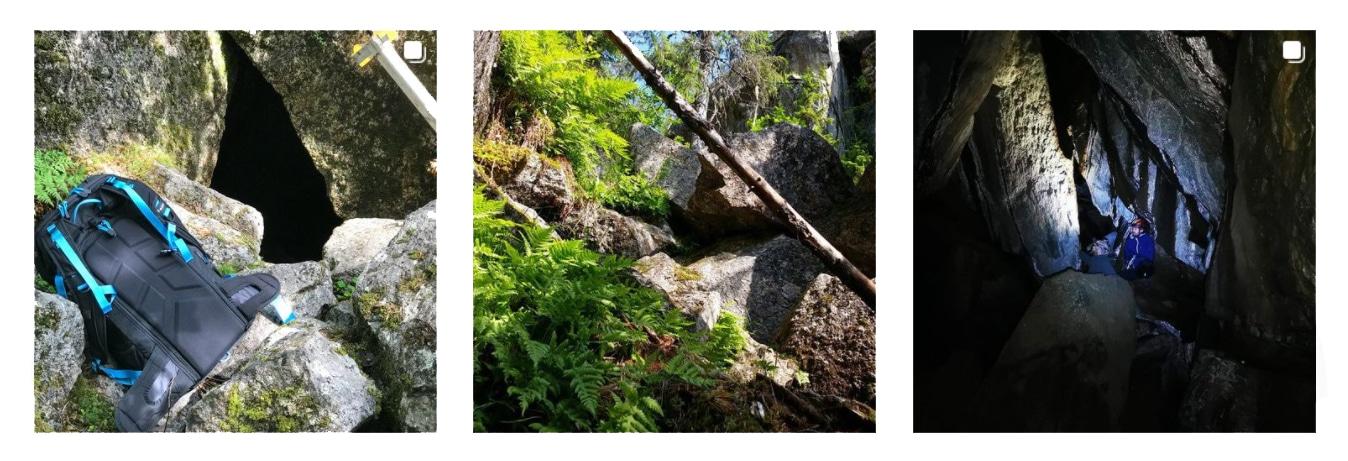 aktiviteter i bräcke källbergsgrottan Bräcke Hunge grottan i sverige - caves in sweden